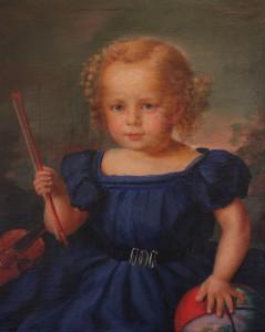 Unbekannter Maler Kinderbild um 1830 Öl Leinwand Mv Internet